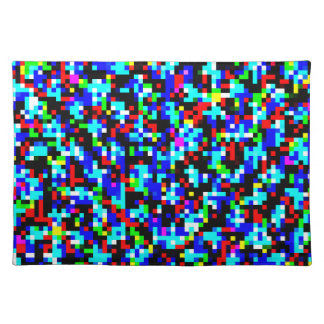 Multicolor Abstract Pixel Pattern Placemat