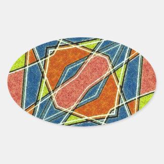 Multicolor Abstract Sticker
