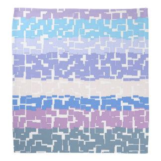 Multicolor Aqua/Lavender/Beige/Pink/Purple/Blue Bandana