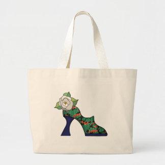 Multicolor Burlap Textures Jumbo Tote Bag