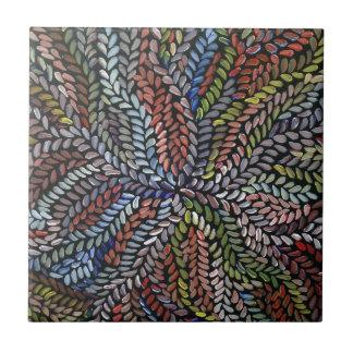 Multicolor bush medicine leaves tile
