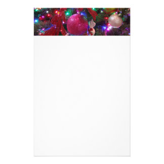 Multicolor Christmas Tree Colorful Holiday Stationery