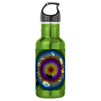 Multicolor Circled Pattern 532 Ml Water Bottle