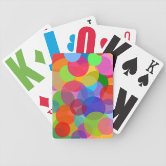 Multicolor Circles & Dots Bicycle Playing Cards
