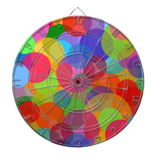 Multicolor Circles & Dots Dartboard