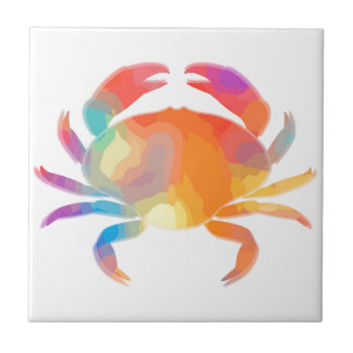 Multicolor Crab Ceramic Tile
