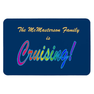 Multicolor Cruising Family Stateroom Door Marker Magnet
