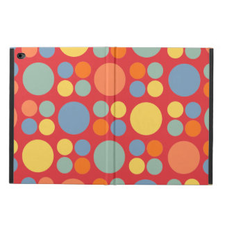 Multicolor Dots on Poppy Red Powis iPad Air 2 Case