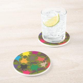 Multicolor Drinking Coaster - Splattered Paint