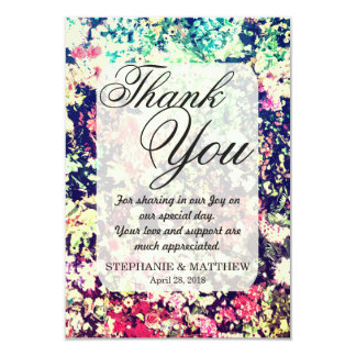 Multicolor Elegant Floral Collage Pattern 9 Cm X 13 Cm Invitation Card