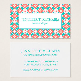 Multicolor Ethnic Pattern Business Card