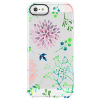 Multicolor Flowers Print Permafrost® Deflector Permafrost® iPhone SE/5/5s Case