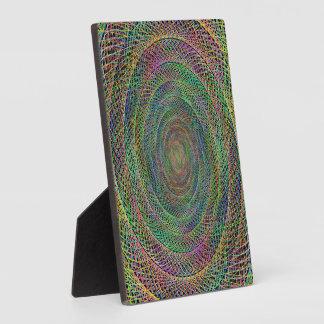 Multicolor fractal spiral display plaques