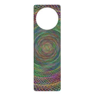 Multicolor fractal spiral door hangers