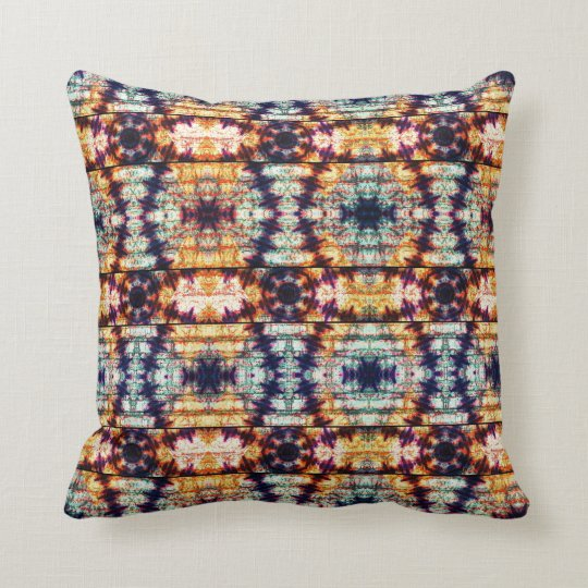 Multicolor Geometric Abstract Pattern Cushion