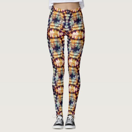 Multicolor Geometric Abstract Pattern Leggings