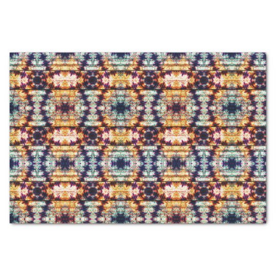 Multicolor Geometric Abstract Pattern Tissue Paper