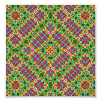 Multicolor Geometric Ethnic Seamless Pattern Photographic Print