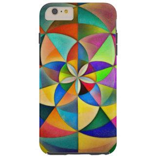 Multicolor Geometric Mandala Print Design Tough iPhone 6 Plus Case