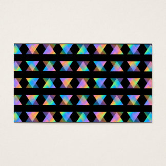 Multicolor Geometric Pattern on Black. Business Card