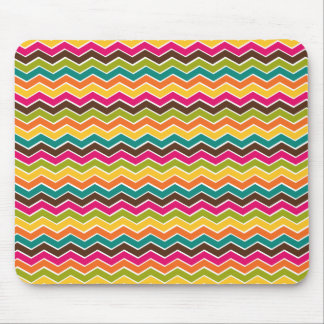 Multicolor girly chevron mouse pad