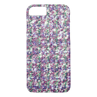 Multicolor Glitter Texture Print iPhone 8/7 Case