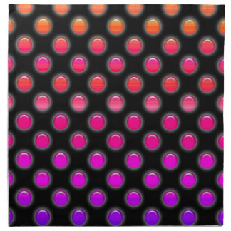 Multicolor Glowing Dots Printed Napkin