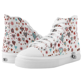 Multicolor Hearts High Tops