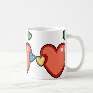 Multicolor Hearts Mug