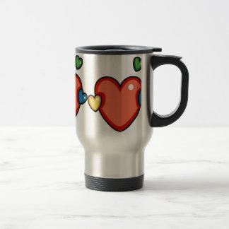 Multicolor Hearts Coffee Mug