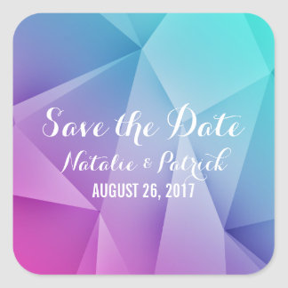Multicolor Jewel Tones Save the Date Stickers
