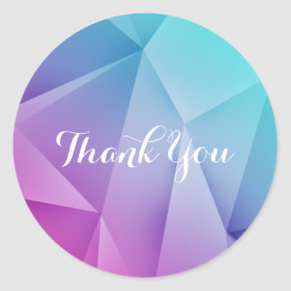 Multicolor Jewel Tones Thank You Stickers