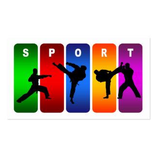 Multicolor Karate Emblem Pack Of Standard Business Cards