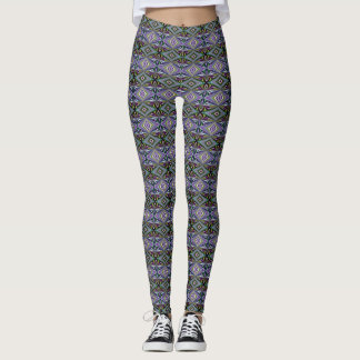 Multicolor Lavender/Violet/Blue/Green/Yellow/Aqua Leggings