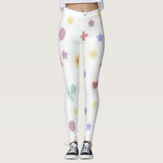 Multicolor leggings with baby toy designs