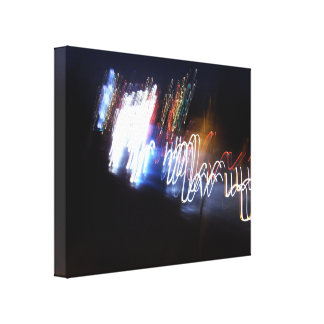 Multicolor Lights In The Dark Stretched Canvas Prints
