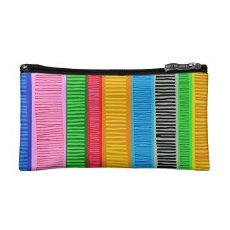 multicolor makeup bag