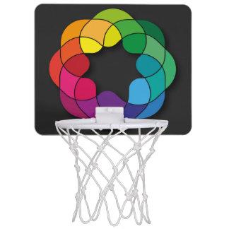 Multicolor Mini Basketball Hoop