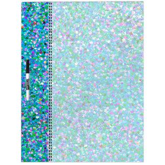 Multicolor Mosaic Modern Grit Glitter #2 Dry Erase Board