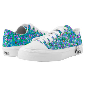 Multicolor Mosaic Modern Grit Glitter #2 Low Tops