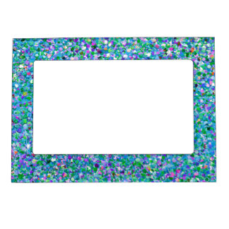 Multicolor Mosaic Modern Grit Glitter #2 Magnetic Picture Frame