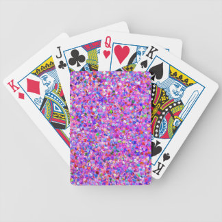 Multicolor Mosaic Modern Grit Glitter #3 Bicycle Playing Cards
