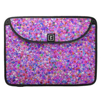 Multicolor Mosaic Modern Grit Glitter #3 Sleeve For MacBook Pro