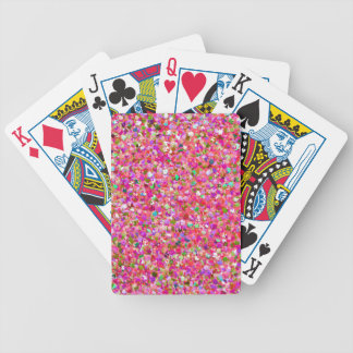 Multicolor Mosaic Modern Grit Glitter #4 Bicycle Playing Cards