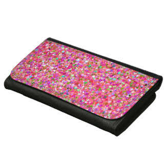Multicolor Mosaic Modern Grit Glitter #4 Leather Wallet