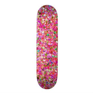 Multicolor Mosaic Modern Grit Glitter #4 Skateboards