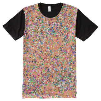 Multicolor Mosaic Modern Grit Glitter #5 All-Over Print T-Shirt
