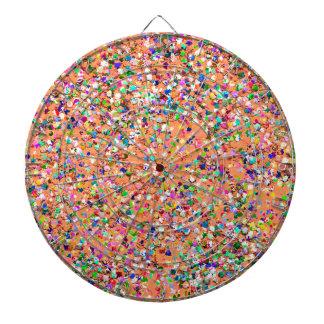 Multicolor Mosaic Modern Grit Glitter #5 Dartboard