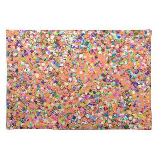 Multicolor Mosaic Modern Grit Glitter #5 Placemat