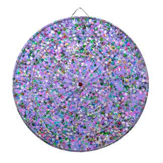 Multicolor Mosaic Modern Grit Glitter #6 Dartboard